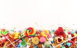 Suikergoed met gelei en suiker kleurrijke serie van verschillende childs stock fotografie