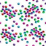 Suikergoed op een wit Naadloos patroon Royalty-vrije Stock Foto