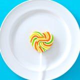 Suikergoed in plaat Stock Foto