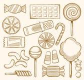 Suikergoed, Snoepjes, Banketbakkerij stock illustratie