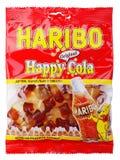 Suikergoed van de Haribo het Gelukkige die Kola op wit wordt geïsoleerd Royalty-vrije Stock Foto's