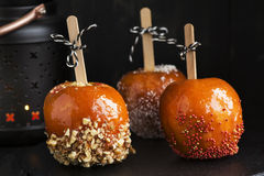 Suikergoedappelen voor Halloween-partij Royalty-vrije Stock Foto's