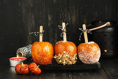 Suikergoedappelen voor Halloween-partij Stock Afbeelding