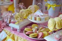 Suikergoedbar voor het eerste jaarverjaardag Royalty-vrije Stock Fotografie