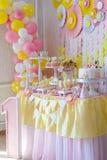 Suikergoedbar voor het eerste jaarverjaardag Stock Afbeelding