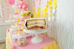 Suikergoedbar voor het eerste jaarverjaardag Royalty-vrije Stock Afbeelding