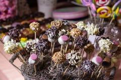 Suikergoedbuffet en woestijnlijst Stock Fotografie