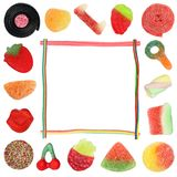 Suikergoedgrens Stock Foto's