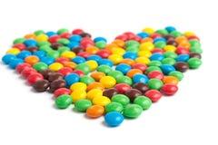 Suikergoedhart stock afbeeldingen