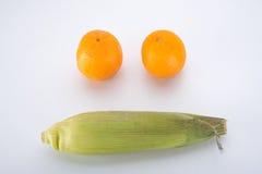 Suikermaïs met Sinaasappel Royalty-vrije Stock Foto's