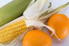Suikermaïs met Sinaasappel Stock Afbeeldingen