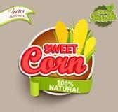 Suikermaïsembleem Royalty-vrije Stock Afbeelding