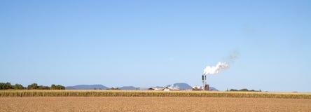 Suikerriet en suikermolen in Queensland Stock Afbeeldingen
