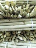 Suikerrietverkoop op straatmarkt Royalty-vrije Stock Foto