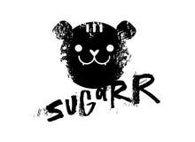 Suikerslogan grafisch, met de vectorillustraties van het tijgerteken Voor t-shirtdruk en ander gebruik vector illustratie