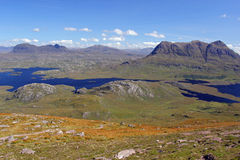 Suilven and Cul Mor. From Stac Pollaidh Stock Image