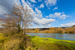 Suio Latina, Itália - o rio Garigliano Imagens de Stock Royalty Free