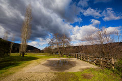 Suio Latina, Italië - de rivier Garigliano Royalty-vrije Stock Foto's