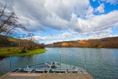 Suio Latina, Italia - el río Garigliano Imágenes de archivo libres de regalías
