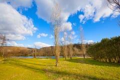 Suio Latina, Italia - el río Garigliano Fotografía de archivo libre de regalías