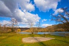Suio Latina, Italien - der Fluss Garigliano Stockbilder