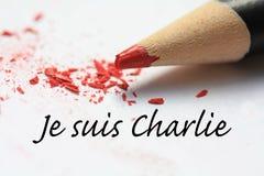 Suis Charlie de Je Foto de Stock