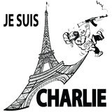 Suis Charlie de Je en París Foto de archivo