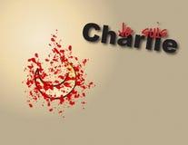 Suis Charlie di Je Illustrazione del grafico di vettore per gli articoli di tema di Charlie di suis di Je Fotografia Stock Libera da Diritti
