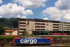 SUISS CARGO  TRAIN Stock Image