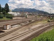 SUISS RAILS CHIASSO Royalty Free Stock Photos