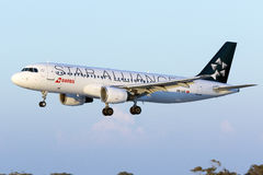 Suisse Airbus dans des couleurs de Star Alliance Photos stock