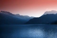 Suisse de lac d'impression photo stock