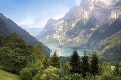 Suisse klontal de lac photos stock