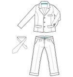 Suit. Sketch of a men's suit with neck tie Stock Photo
