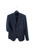 Suit. Male suit without tie isolated on the white Stock Images
