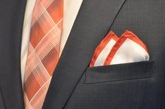 Suit. Men's business suit detail Stock Photo