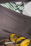 Suit. Reflecting the tailoring, Joint suit with shirt and tie Royalty Free Stock Photos
