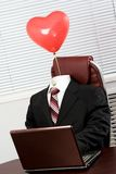 Suit with balloon Stock Images