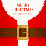 Suit and beard Santa Claus Stock Photography