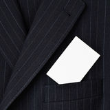 Suit with blank business card in pocket Stock Image