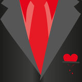 Suit with bleeding heart Royalty Free Stock Photos