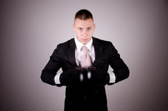 Suit boxing Stock Photo