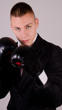 Suit boxing Royalty Free Stock Images