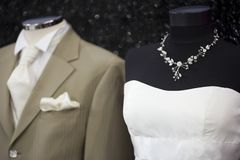 Suit and bride costume Stock Image