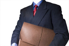 Suit and briefcase. Suit and tie holding a briefcase Stock Photos