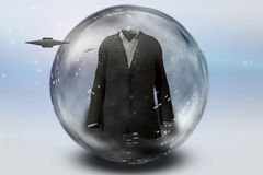 Suit in bubble with Craft Stock Photo