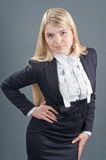Suit business of the lady. Stock Photo