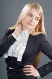 Suit business of the lady. Royalty Free Stock Photos