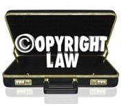 Suit C för advokat för advokat för rättsfall för Copyright lag lagligt symbol Arkivbilder