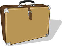 Suit Case. Brown suit case in  format Stock Photos